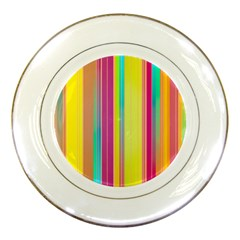 Background Colorful Abstract Porcelain Plates by Nexatart