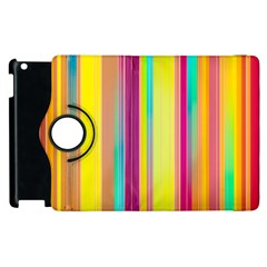 Background Colorful Abstract Apple Ipad 2 Flip 360 Case