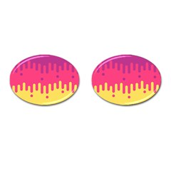 Background Image Cufflinks (oval) by Nexatart
