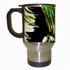 Lillies In The Terracota Vase 5 Travel Mugs (white) by bestdesignintheworld