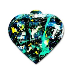 Brain Reflections Dog Tag Heart (one Side) by bestdesignintheworld