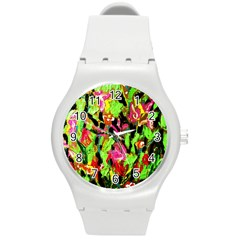 Spring Ornaments Round Plastic Sport Watch (m)