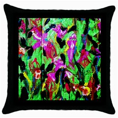 Spring Ornaments 2 Throw Pillow Case (black)