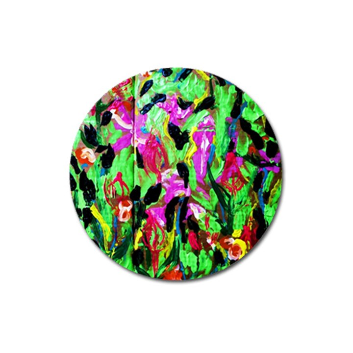 spring ornaments-2 Magnet 3  (Round)