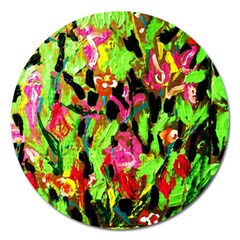 Spring Ornaments 1 Magnet 5  (round) by bestdesignintheworld