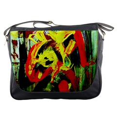 Fish And Bread 1/1 Messenger Bags by bestdesignintheworld