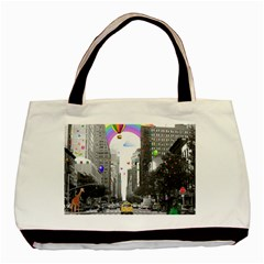 Downtown Dream Basic Tote Bag by Valentinaart
