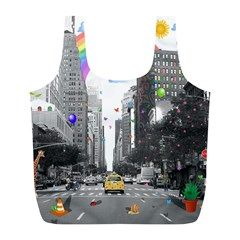 Downtown Dream Full Print Recycle Bags (l)