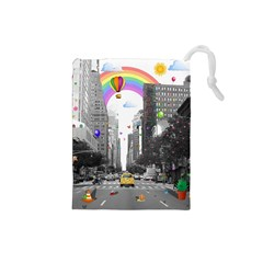 Downtown Dream Drawstring Pouches (small)