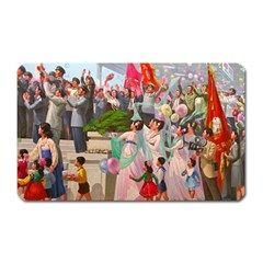North  Korea   Propaganda Magnet (rectangular) by Valentinaart