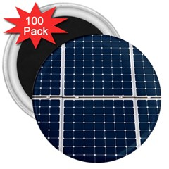 Solar Power Panel 3  Magnets (100 Pack) by FunnyCow