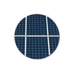 Solar Power Panel Magnet 3  (round) by FunnyCow