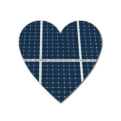 Solar Power Panel Heart Magnet by FunnyCow