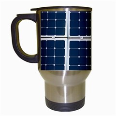 Solar Power Panel Travel Mugs (white) by FunnyCow