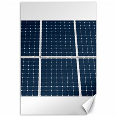 Solar Power Panel Canvas 24  X 36  by FunnyCow
