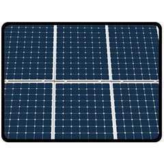 Solar Power Panel Fleece Blanket (large)  by FunnyCow