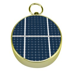 Solar Power Panel Gold Compasses by FunnyCow