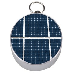 Solar Power Panel Silver Compasses by FunnyCow