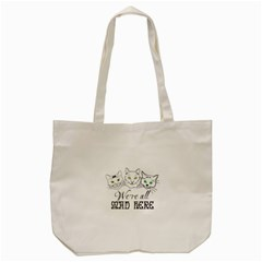 Funny Cats  We Are All Mad Here Tote Bag (cream) by FunnyCow