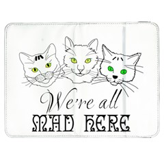 Funny Cats  We Are All Mad Here Samsung Galaxy Tab 7  P1000 Flip Case by FunnyCow