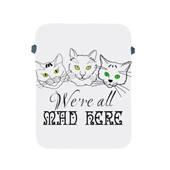 Funny Cats  We Are All Mad Here Apple Ipad 2/3/4 Protective Soft Cases by FunnyCow