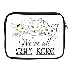 Funny Cats  We Are All Mad Here Apple Ipad 2/3/4 Zipper Cases by FunnyCow