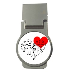 Singing Heart Money Clips (round)  by FunnyCow