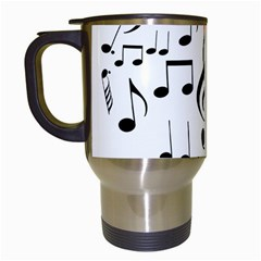 Singing Heart Travel Mugs (white) by FunnyCow