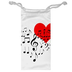 Singing Heart Jewelry Bags by FunnyCow