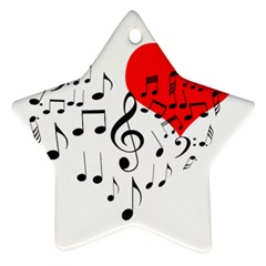 Singing Heart Star Ornament (two Sides) by FunnyCow