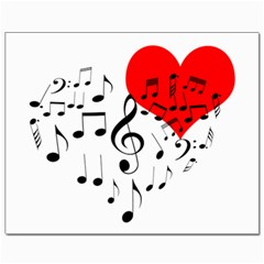 Singing Heart Canvas 8  X 10  by FunnyCow