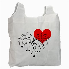 Singing Heart Recycle Bag (two Side)  by FunnyCow
