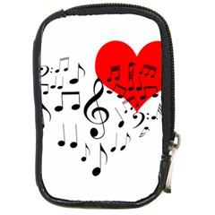 Singing Heart Compact Camera Cases by FunnyCow