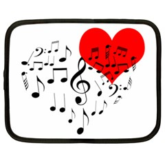 Singing Heart Netbook Case (xxl)  by FunnyCow
