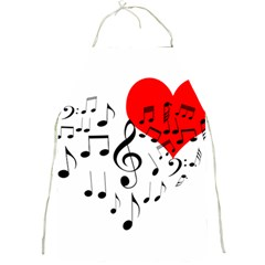 Singing Heart Full Print Aprons by FunnyCow