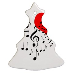 Singing Heart Christmas Tree Ornament (two Sides) by FunnyCow