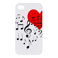 Singing Heart Apple Iphone 4/4s Hardshell Case by FunnyCow