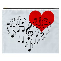 Singing Heart Cosmetic Bag (xxxl)  by FunnyCow