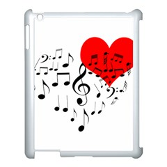Singing Heart Apple Ipad 3/4 Case (white) by FunnyCow