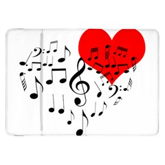 Singing Heart Samsung Galaxy Tab 8 9  P7300 Flip Case by FunnyCow