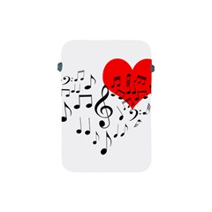Singing Heart Apple Ipad Mini Protective Soft Cases by FunnyCow