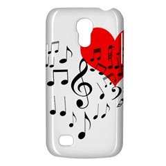 Singing Heart Samsung Galaxy S4 Mini (gt I9190) Hardshell Case  by FunnyCow