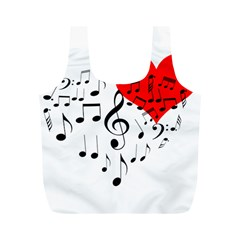 Singing Heart Full Print Recycle Bags (m)  by FunnyCow