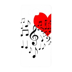 Singing Heart Samsung Galaxy Alpha Hardshell Back Case by FunnyCow
