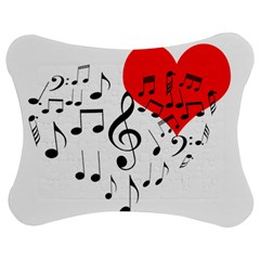 Singing Heart Jigsaw Puzzle Photo Stand (bow) by FunnyCow