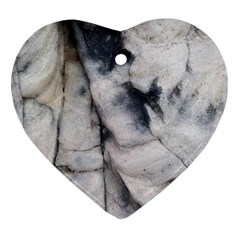 Canyon Rocks Natural Earth Art Texture Heart Ornament (two Sides) by CrypticFragmentsDesign