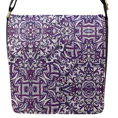 Colorful Intricate Tribal Pattern Flap Messenger Bag (s) by dflcprints