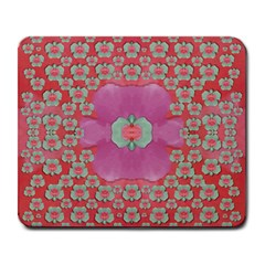 Fantasy Flowers In Everything That Is Around Us In A Free Environment Large Mousepads by pepitasart