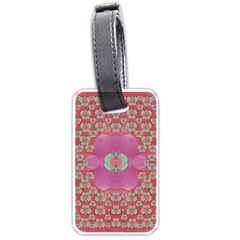 Fantasy Flowers In Everything That Is Around Us In A Free Environment Luggage Tags (one Side)  by pepitasart