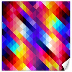 Abstract Background Colorful Pattern Canvas 20  X 20   by Nexatart